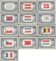 Ref. 370103 * HINGED *  - UNITED STATES . 1943. FLAGS. BANDERAS - Unused Stamps