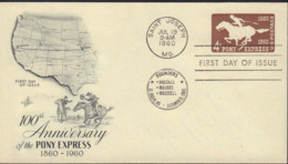 Ref. 577536 * NEW *  - UNITED STATES . 1960. 100 ANIVERSARIO DEL PONY EXPRES - United States