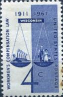 Ref. 161743 * NEW *  - UNITED STATES . 1961. 50 ANIVERSARIO DE LA LEY DE COMPESACION LABORAL - Nuevos