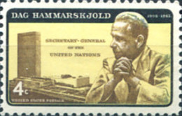 Ref. 161758 * NEW *  - UNITED STATES . 1962. ANIVERSARIO DE LA MUERTE DE  DAG HAMMARSKJ�LD (1905-1961) - Nuevos