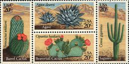 Ref. 4888 * NEW *  - UNITED STATES . 1981. CACTUSES. CACTUS - Etats-Unis