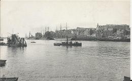 Carte Postale Ancienne De Nantes La Loire A L'entree Du Port - Nantes