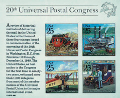 Ref. 86867 * NEW *  - UNITED STATES . 1989. 20th CONGRESS OF THE UPU. 20 CONGRESO DE LA UPU - Vereinigte Staaten