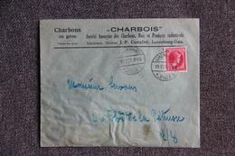 """Timbre Sur Lettre Publicitaire - LUXEMBOURG : """" CHARBOIS """", Charbon En Gros. - Luxembourg"""