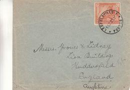 Congo Belge - Devant De Lettre De 1925 - Oblit Leopoldville -  Exp Vers Huddersfield - Tissage - Congo Belge