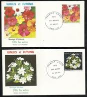 W. Et F. 2 Lettres Illustrées  Premier Jour Mata-Utu Le 30/05/1993 N°449 Et 450 Fête Des Mères   TB - Muttertag