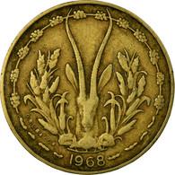 Monnaie, West African States, 10 Francs, 1968, TTB, Aluminum-Nickel-Bronze - Ivory Coast