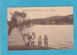 Peyrat-le-Château. - L'Étang. - Un Groupe De 8 Enfants. - Autres Communes