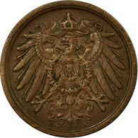Monnaie, GERMANY - EMPIRE, Wilhelm II, 2 Pfennig, 1910, Berlin, TB+, Cuivre - [ 2] 1871-1918 : German Empire