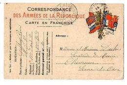 34199-ZE-MILITARIA--CORRESPONDANCE DES ARMEES DE LA REPUBLIQUE--CARTE EN FRANCHISE - Altri