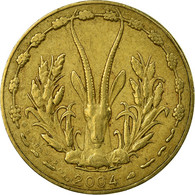 Monnaie, West African States, 5 Francs, 2004, TTB, Aluminum-Nickel-Bronze, KM:2a - Côte-d'Ivoire