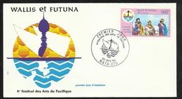 W. Et F.  Lettre Illustrée  Premier Jour Mata-Utu Le 30/11/1984 Le N°321 4 ème Festival Des Arts Du Pacifique TB - Wallis En Futuna