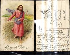68191,Künstler Ak Ostern Jesus Ansaat A. Feld Kirche Korn - Ostern
