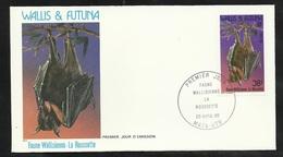 W. Et F.  Lettre Illustrée  Premier Jour Mata-Utu Le 29/04/1985 Le N°330 Chauve-souris   La Roussette   TB - Chauve-souris