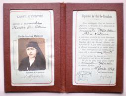 DIPLOME DE GARDE COUCHES 1929 Diploma Bruxelles Hospice De La Maternité Commission Assistance Publique Religieuse - Santé