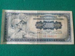 5000 Dinara 1955 - Jugoslavia