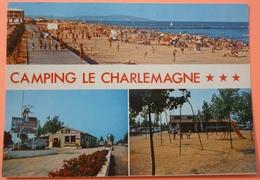 CARTE MARSEILLAN PLAGE - 34 - CAMPING LE CHARLEMAGNE - SCAN RECTO/VERSO - 3 - Marseillan