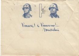 9295-BUSTA E CARTA INTESTATA-RE UMBERTO I° E MUSSOLINI-1941 - Vecchi Documenti