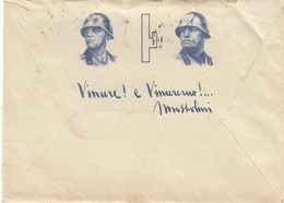 9295-BUSTA E CARTA INTESTATA-RE UMBERTO I° E MUSSOLINI-1941 - Vieux Papiers