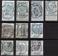 Armoiries N°81 10ex  Agetre / Louvain / Bruxelles - 1893-1907 Coat Of Arms