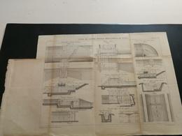ANNALES PONTS Et CHAUSSEES (Dep 71) - Plan Du Canal Du Centre Rigole De Rully Gravé Par Macquet 1892 (CLA32) - Cartes Marines