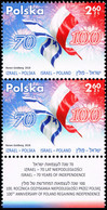 Poland 2018 Fi 4884 Mi 5034 Poland - Israel. Independence. Memory. Common Heritage - Unused Stamps