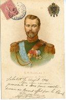 1070. CPA ILLUSTRATEUR. RUSSIE S.M. NICOLAS II EMPEREUR 1906. CACHETS MAUBOURGUET - Personnages