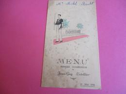 Menu De Repas De Première  Communion/Déjeuner-Diner/Jean-Guy LETELLIER/Michel Boulet/Forges Les Eaux/1956  MENU260 - Menus
