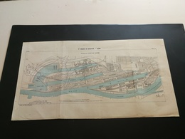 ANNALES PONTS Et CHAUSSEES (Allemagne) - Plan Du IXe Congrès De Navigation - Brème 1903 (CLA33) - Cartes Marines