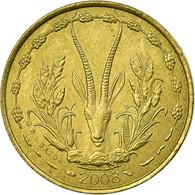 Monnaie, West African States, 5 Francs, 2008, TTB, Aluminum-Nickel-Bronze, KM:2a - Côte-d'Ivoire