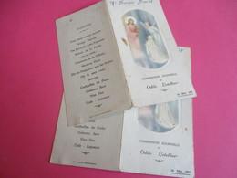 2 Menus De Repas De   Communion Solennelle/Déjeuner-Diner/Odile LETELLIER/françois Boulet/Forges Les Eaux/1957  MENU261 - Menus
