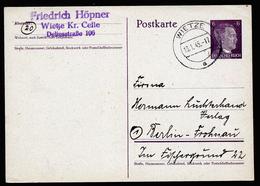 A6096) DR Karte Wietze 18.01.45 N. Berlin - Briefe U. Dokumente