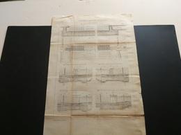 ANNALES PONTS Et CHAUSSEES (Dep 92) - Plan Du Barrage De Suresnes - Gravé Par Macquet - 1889 (CLA35) - Travaux Publics