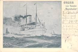 "Dampfer ""Bornholm""  1905 AKS W.Stöwer - Paquebots"