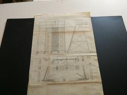 ANNALES PONTS Et CHAUSSEES (Dep 92) - Plan Du Barrage De Suresnes Sur La Seine - Gravé Par Macquet - 1889 (CLA36) - Travaux Publics