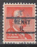 USA Precancel Vorausentwertung Preo, Locals Illinois, Henry 839 - Vereinigte Staaten