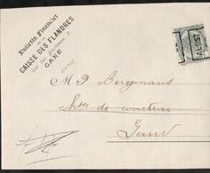 Grand Fragment De Feuille Affranchie Avec Un Timbre Préoblitéré Envoyée D'Alost Vers Gand En 1902 - Precancels