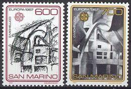 SAN MARINO 1987 Mi-Nr. 1354/55 ** MNH - CEPT - San Marino