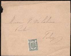 Bande Journal Affranchie Avec Un Timbre Préoblitéré Envoyée De Bruxelles Vers Feluy En 1902 - Precancels