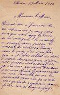 VP14.718 - CHINON 1896 - Lettre De Mr  Charles LE GAL à Mr Le Maire De GUEMENE - Manuscrits