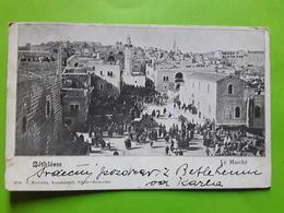 BETHLEEM, Palestine / Israel, Le Marché,  Animée,  Ed Horowitz, Triest / Jerusalem, 1903 - Palestina