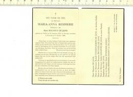 DP 7478 - BIDPRENTJE - MARIA ANNA REMMERIE - HULSTE 1914 + KORTRIJK 1964 - Devotieprenten