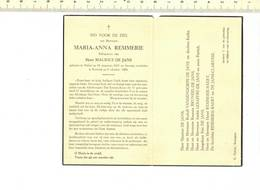 DP 7478 - BIDPRENTJE - MARIA ANNA REMMERIE - HULSTE 1914 + KORTRIJK 1964 - Images Religieuses