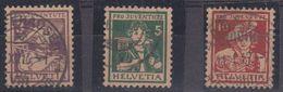 Switzerland 1916 Pro Juventute 3v Used (42297) - Pro Juventute