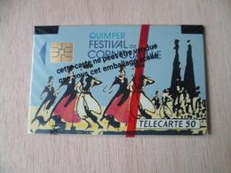TELECARTE NEUVE SOUS BLISTER  QUIMPER  FESTIVAL DE COURNOUAILLE 07/91 11000   EX - France