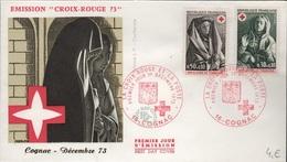 FDC 350 - FRANCE N° 1779/80 CROIX-ROUGE Sur  FDC 1973 - FDC