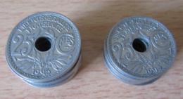 France - Petit Stock De 17 Monnaies 25c Lindauer 1914 Et 1915 - Probablement Non-circulées - Etat SUP Voire SPL - France