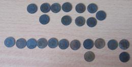 France - Petite Collection De 24 Monnaies 2 Centimes Napoléon III Et Cérès 1853 à 1895 - Détails Dans La Description - Collections
