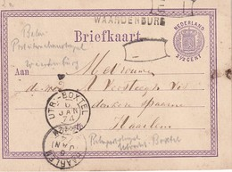 PAYS-BAS 1874   ENTIER POSTAL/GANZSACHE/POSTAL STATIONERY CARTE DE WAARDENBURG - Postal Stationery