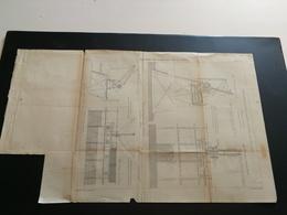 ANNALES PONTS Et CHAUSSEES (Dep 92) - Plan Du Barrage De Suresnes Sur La Seine - Gravé Par Macquet - 1889 (CLA41) - Architecture
